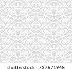 floral pattern. wallpaper...   Shutterstock .eps vector #737671948