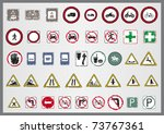 signal road | Shutterstock .eps vector #73767361