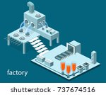 isometric 3d vector... | Shutterstock .eps vector #737674516