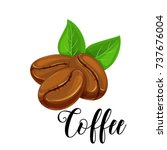 vector icon coffee bean for... | Shutterstock .eps vector #737676004