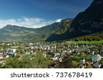 holidays in liechtenstein | Shutterstock . vector #737678419