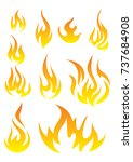 vector set of flame. a... | Shutterstock .eps vector #737684908