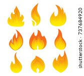 vector set of flame. a... | Shutterstock .eps vector #737684920