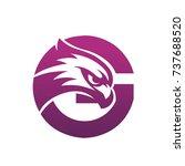 purple hawk initial g vector... | Shutterstock .eps vector #737688520