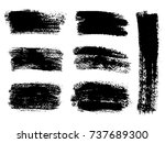 painted grunge stripes set.... | Shutterstock .eps vector #737689300