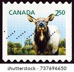 canada   circa 2014  a stamp... | Shutterstock . vector #737696650