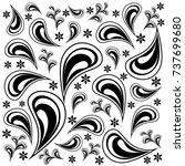 boo  paisley pattern | Shutterstock .eps vector #737699680
