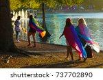 orlando  florida july 2016   ... | Shutterstock . vector #737702890