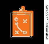 soccer strategy tactic plan... | Shutterstock .eps vector #737704399
