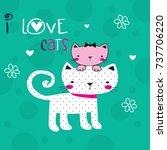 Cute Cartoon Cats  I Love Cats...