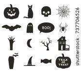 halloween icons   Shutterstock .eps vector #737706526