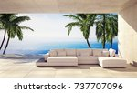 spacious living room in a... | Shutterstock . vector #737707096