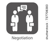 negotiation vector icon.... | Shutterstock .eps vector #737708383