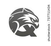 black hawk initial q vector logo | Shutterstock .eps vector #737711434