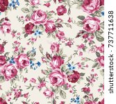 shabby chic or granny chic... | Shutterstock .eps vector #737711638