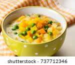 green peas and carrot stew | Shutterstock . vector #737712346