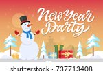 new year party   modern cartoon ... | Shutterstock .eps vector #737713408