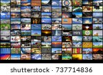 big multimedia video and image... | Shutterstock . vector #737714836