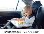 cute little asian 18 months   1 ... | Shutterstock . vector #737716504