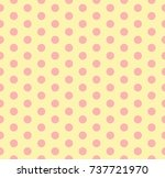 pink dot on yellow background...   Shutterstock .eps vector #737721970