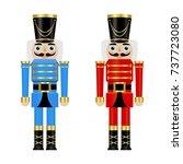vector illustration of a blue... | Shutterstock .eps vector #737723080