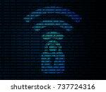 the key reinstallation attack ... | Shutterstock .eps vector #737724316