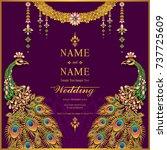 wedding invitation card... | Shutterstock .eps vector #737725609