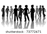 company of ten young going... | Shutterstock .eps vector #73772671