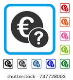 euro status icon. flat gray...