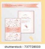 luxury wedding invitation...   Shutterstock .eps vector #737728033