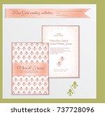 luxury wedding invitation... | Shutterstock .eps vector #737728096