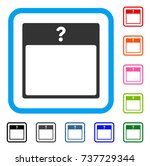unknown day calendar page icon. ... | Shutterstock .eps vector #737729344
