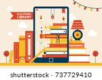 electronic library promotional... | Shutterstock .eps vector #737729410