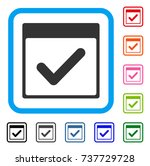 valid day calendar page icon.... | Shutterstock .eps vector #737729728