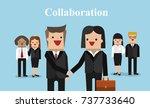 illustration vector business... | Shutterstock .eps vector #737733640