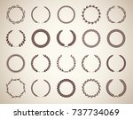 collection of twenty circular... | Shutterstock .eps vector #737734069