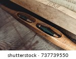 grandma was weaving in the... | Shutterstock . vector #737739550