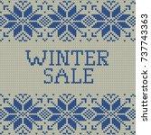 knitted winter sale template... | Shutterstock .eps vector #737743363