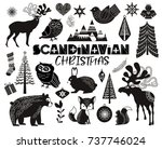 set of scandinavian objects for ... | Shutterstock .eps vector #737746024