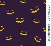 seamless pattern of grinning... | Shutterstock . vector #737751124