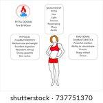 ayurveda doshas. ayurvedic body ... | Shutterstock .eps vector #737751370