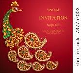 wedding invitation card... | Shutterstock .eps vector #737752003