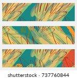 hand drawn creative universal... | Shutterstock .eps vector #737760844