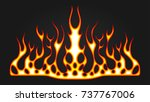 blazing fire decals for the...