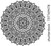 mandala pattern black and white ... | Shutterstock .eps vector #737769478