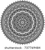 mandala pattern black and white ... | Shutterstock .eps vector #737769484