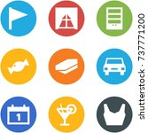 origami corner style icon set   ... | Shutterstock .eps vector #737771200