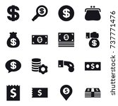 16 vector icon set   dollar ... | Shutterstock .eps vector #737771476