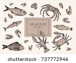 Vector Illustration. Seafood ...