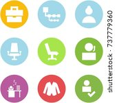 origami corner style icon set   ... | Shutterstock .eps vector #737779360